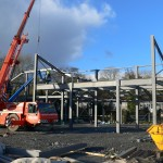 The new building starts to grow