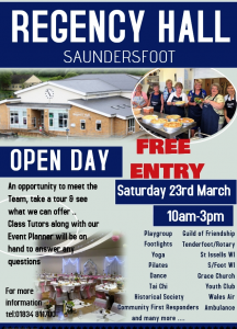 Open Day March 2019 poster